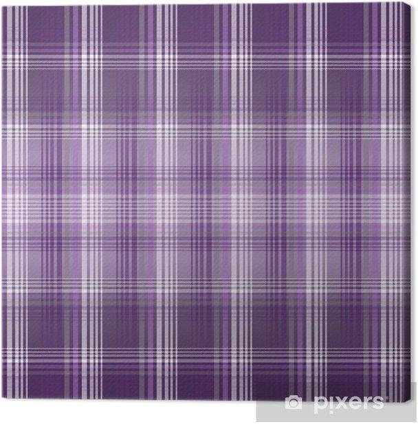 Tableau sur toile Carreaux violets - Mode