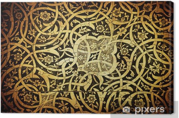 Tableau sur toile Carrelage de fond, ornements orientaux de backg Uzbekistan.Tiled - Styles
