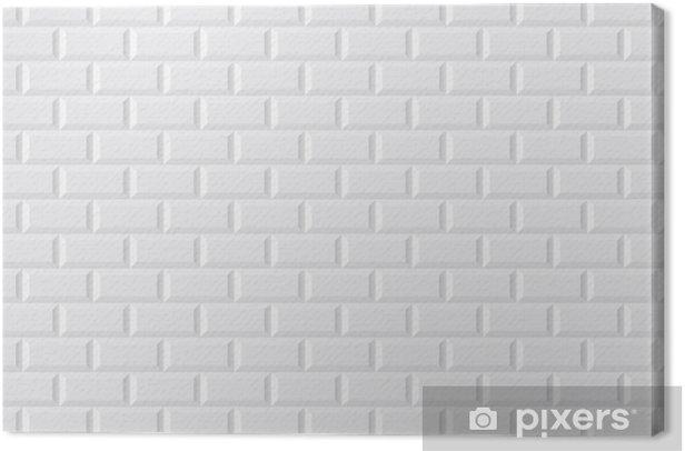 Tableau sur toile CARRELAGE métro blanc - Styles
