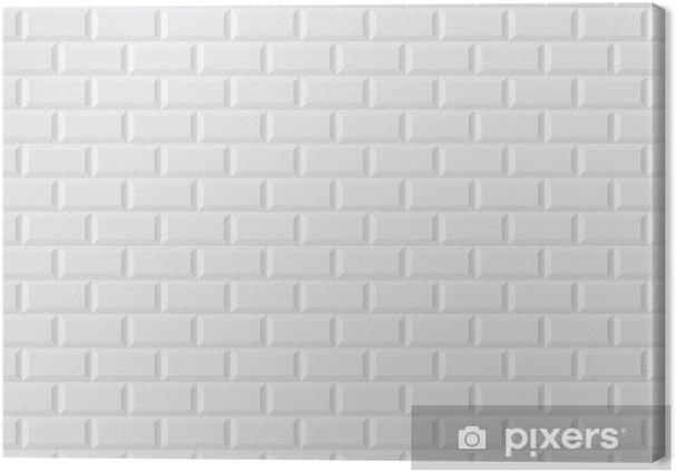 Tableau sur toile CARRELAGE métro blanc • Pixers® - Nous vivons pour ...