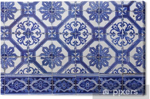 Tableau Sur Toile Carrelage Traditionnel Portugais Fait Main Azulejos Lisbonne L Europe Pixers Nous Vivons Pour Changer