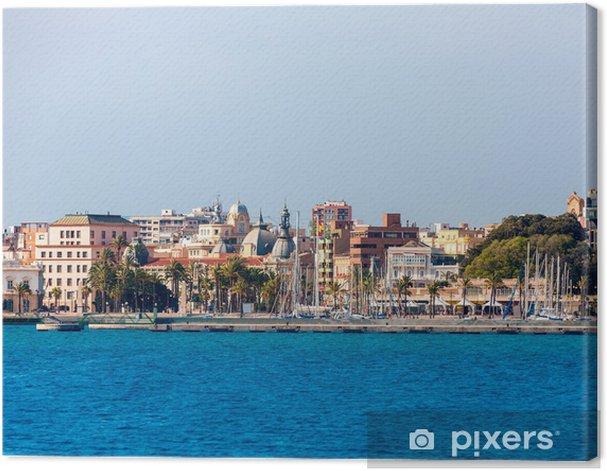 Tableau sur toile Cartagena horizon Murcia au Espagne méditerranéenne - Vacances