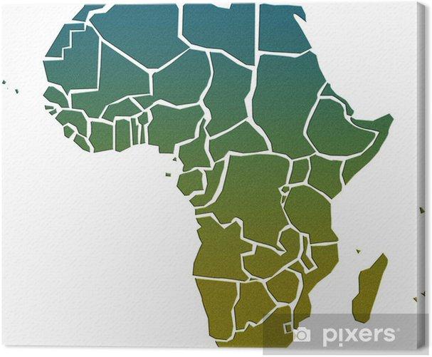 Tableau sur toile Carte afrique - Espace