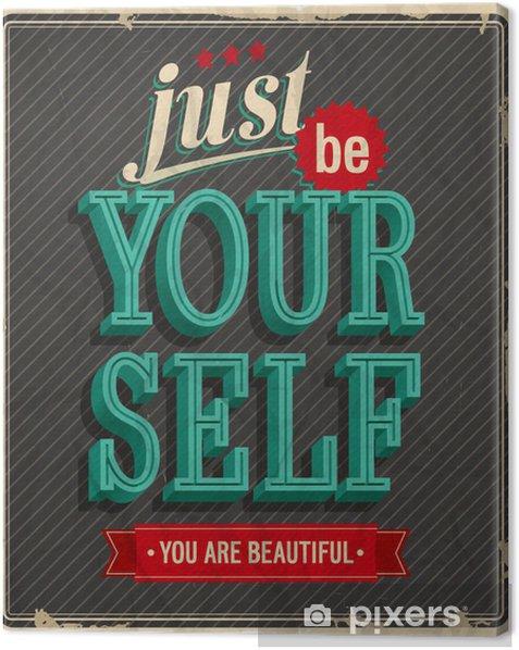 Tableau sur toile Carte de cru - Juste être votre auto - Liberté