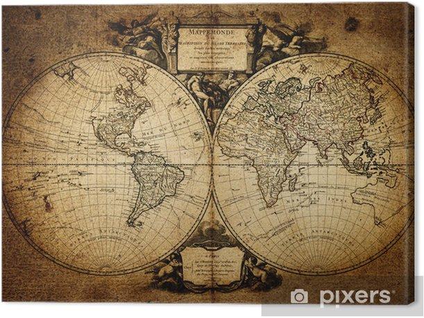 Tableau sur toile Carte du monde 1752 - Thèmes
