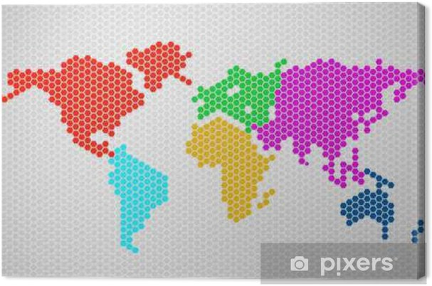 Tableau sur toile Carte du monde Résumé des hexagones. Vector illustration. Eps 10 - Ressources graphiques
