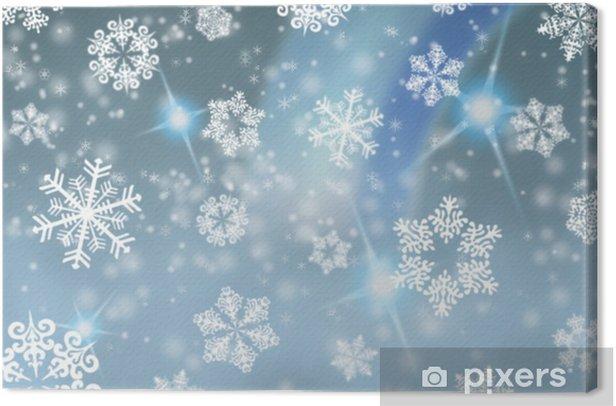Tableau sur toile Carte postale de flocons de neige de cru / fond - Fêtes internationales