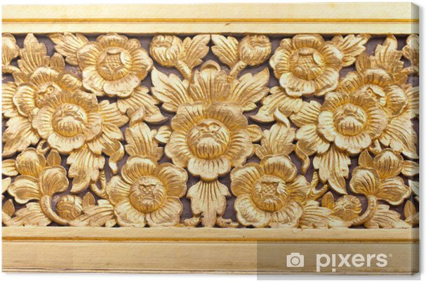 Tableau sur toile Carve Art sur bois - Bâtiments publics