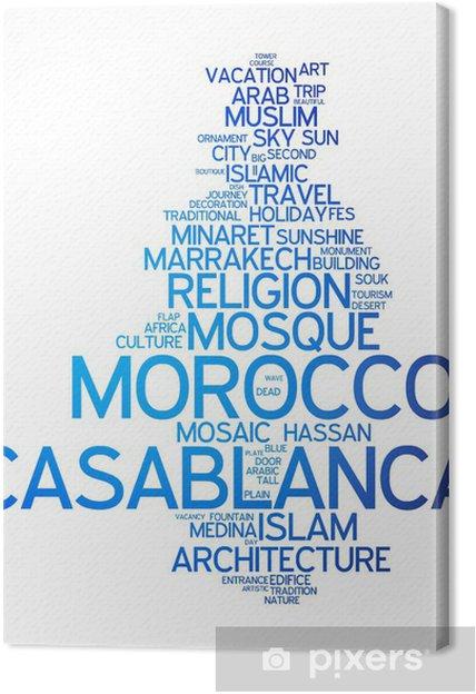 Tableau sur toile Casablanca (Maroc) - Europe
