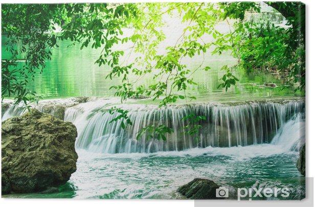Tableau sur toile Cascade de Deep forest en Thaïlande - Thèmes