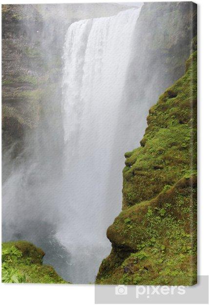 Tableau sur toile Cascade de Skogafoss, Islande - Europe
