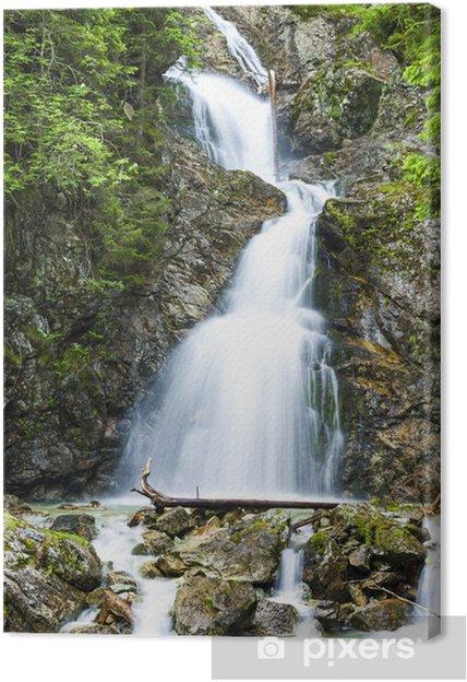 Tableau sur toile Cascade Dolny Nefcersky, Vysoke Tatry (Hautes Tatras), Slovaquie - Europe