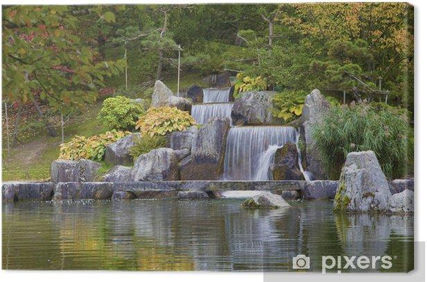 Tableau Sur Toile Cascade En Cascade Dans Le Jardin Japonais
