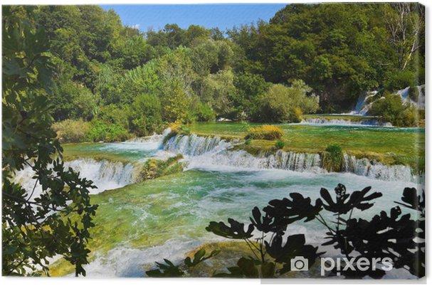 Tableau sur toile Cascade KRKA en Croatie - Thèmes