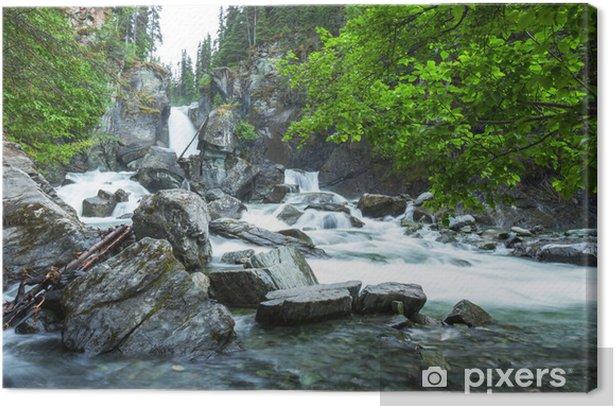 Tableau sur toile Cascade sur Alaska - Eau