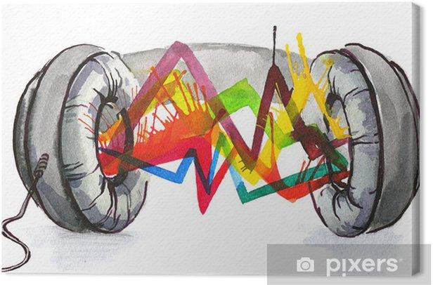 Tableau sur toile Casque le son - Sticker mural