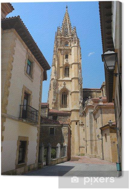 Tableau sur toile Cathédrale d'Oviedo, dans les Asturies, en Espagne - Europe