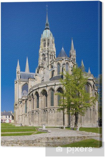 Tableau sur toile Cathédrale Notre Dame, Bayeux, Normandie, France - Europe