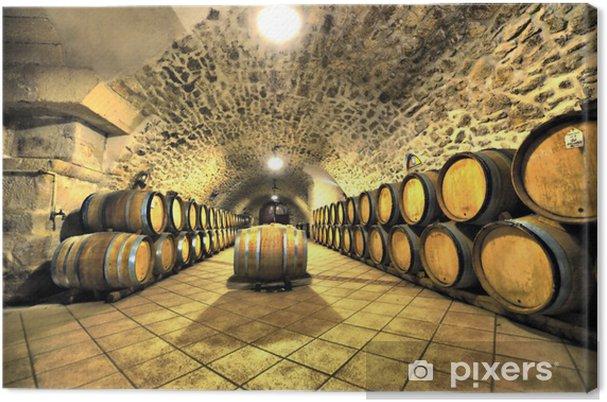 Tableau sur toile Cave a vin -