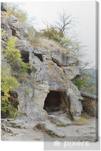 Tableau sur toile Caves montagne de l'ancienne ville de chou Chufut - Europe