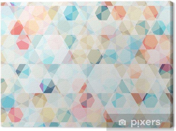 Tableau sur toile Cellule diamant seamless -