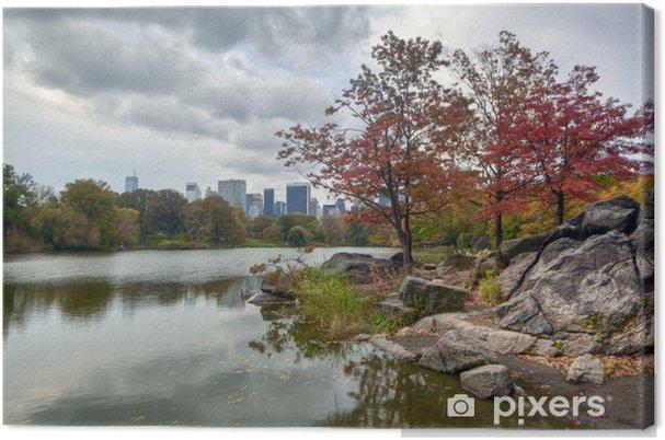 Tableau sur toile Central Park sur le lac - Villes américaines