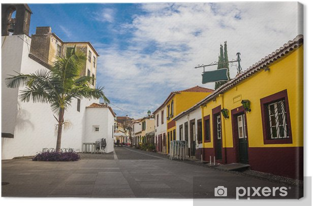 Tableau sur toile Centre de la vieille ville historique de Funchal, Madère, Portugal. - Paysages urbains