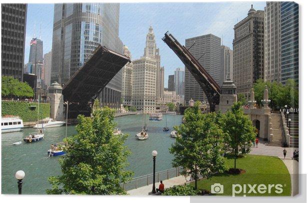 Tableau sur toile Centre-ville de Chicago, Illinois - Thèmes
