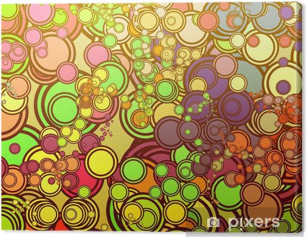 Tableau sur toile Cercles rétro - Criteo