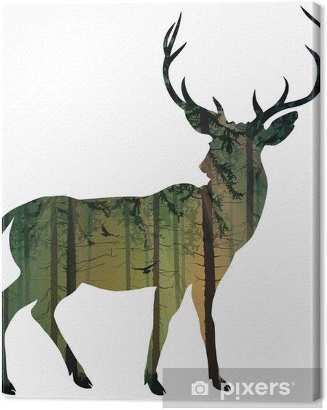 Tableau sur toile Cerf - Mammifères