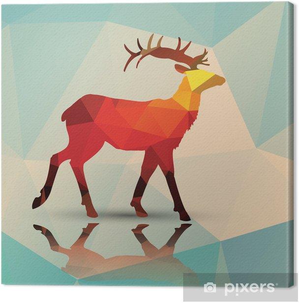 Tableau sur toile Cerfs polygonale géométrique, conception de modèle, vecteur - Thèmes