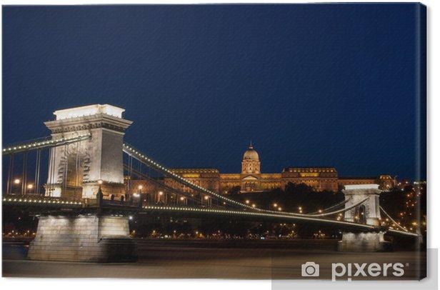 Tableau sur toile Chain Bridge, le Palais Royal à Budapest - Europe