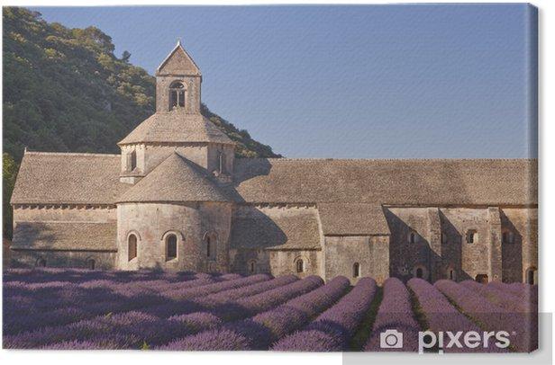 Tableau sur toile Champ de lavande à l'abbaye de Sénanque en Provence - Europe