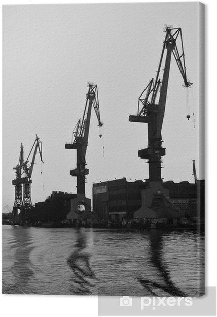 Tableau sur toile Chantier naval de Gdansk 6 - Thèmes