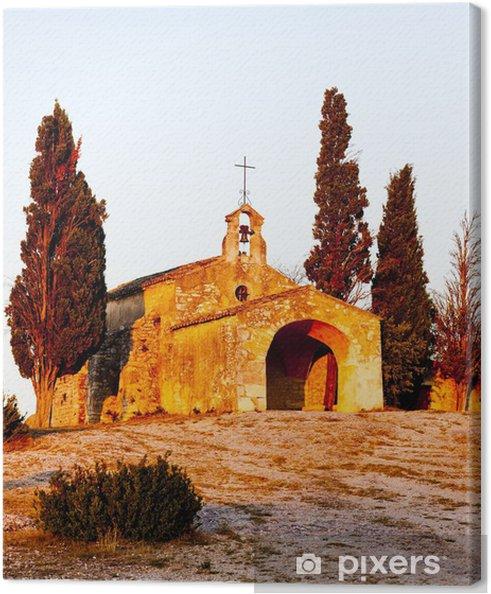 Tableau sur toile Chapelle Saint-Sixte près de Eygalières, Provence, France - Europe