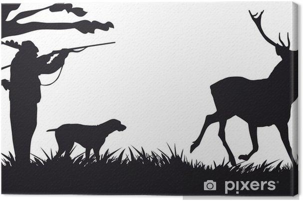 Tableau sur toile Chasse motrice des animaux et des paysages - Nature et régions sauvages