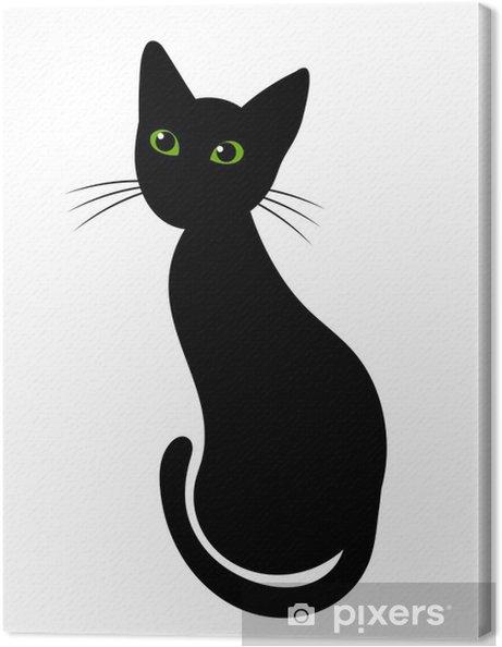 Tableau sur toile Chat noir - Mammifères