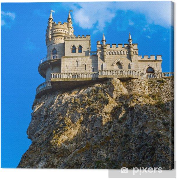 Tableau sur toile Château médiéval ciel soit bleu avec des nuages. Nest \ Swallow - Thèmes