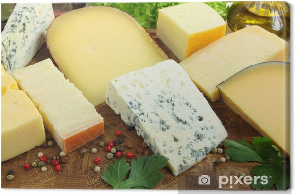 Tableau sur toile Cheeses - Fromage