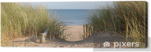 Tableau sur toile Chemin à travers les dunes Plage - Mer et océan