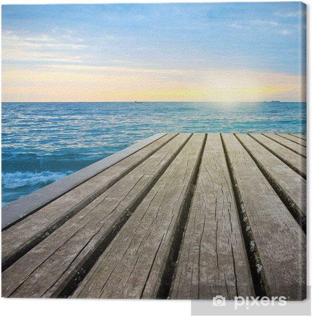 Tableau sur toile Chemin de Pier au soleil - Océanie