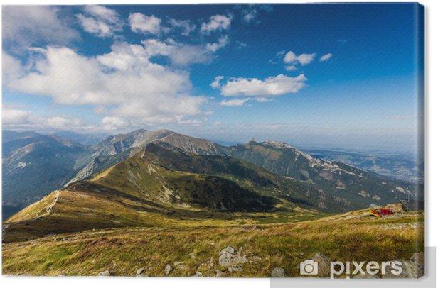 Tableau sur toile Chemin sur le côté raide de Kasprowy Wierch dans les montagnes Tatras - Thèmes