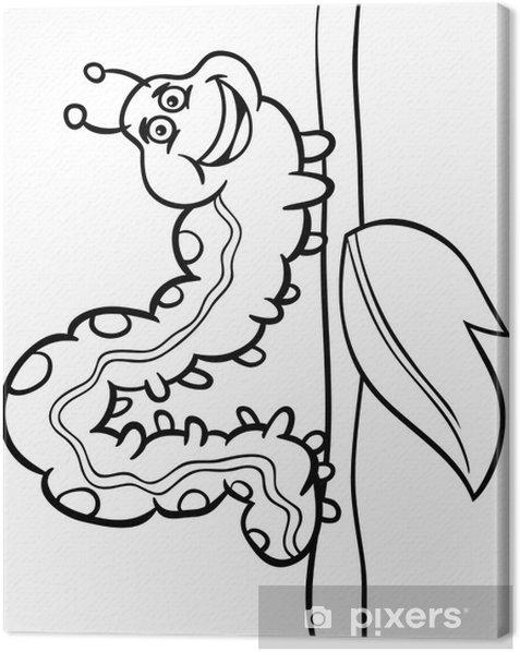 Tableau Sur Toile Chenille Bande Dessinee D Insecte Pour Livre De Coloriage Pixers Nous Vivons Pour Changer