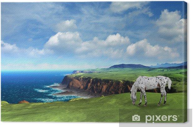 Tableau sur toile Cheval blanc - Ciel