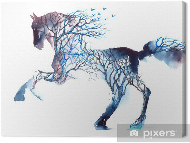 Tableau sur toile Cheval - iStaging