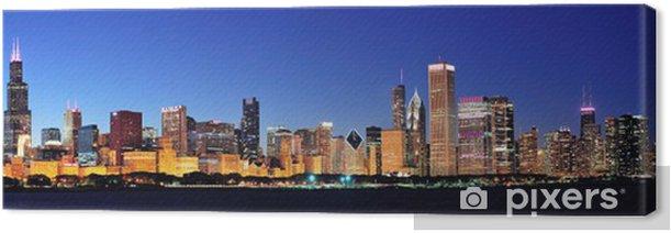 Tableau sur toile Chicago nuit panorama - Thèmes