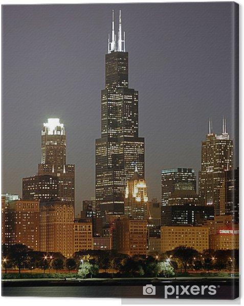 Tableau sur toile Chicago paysage urbain et Sears Tower - Thèmes