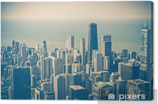 Tableau sur toile Chicago Skyline aérienne - Thèmes
