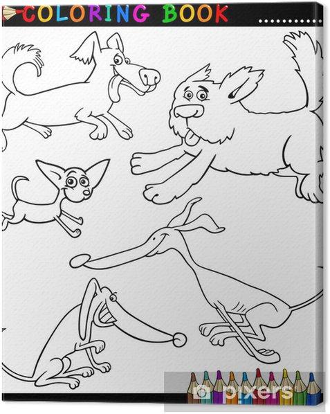 Tableau sur toile Chiens de bande dessinée ou de chiots pour Coloring Book - Mammifères