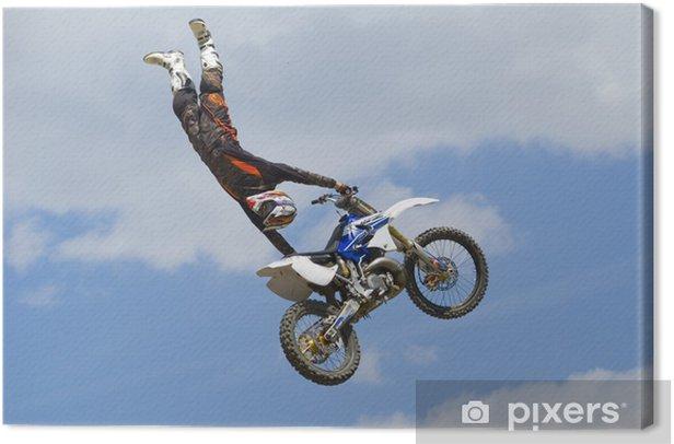 Tableau sur toile Chiffre en motocross - Sur la route